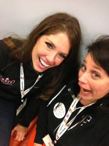 Being goofy with Kyra at Expo West