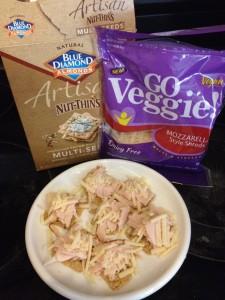 "mini turkey and cheese cracker ""sandwiches"""