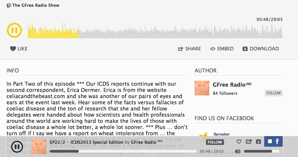 The GFree Radio Show: Erica at ICDS
