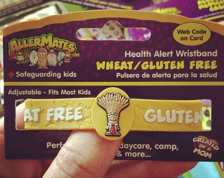 Allermates Professor Wheatley Food Allergy Bracelet