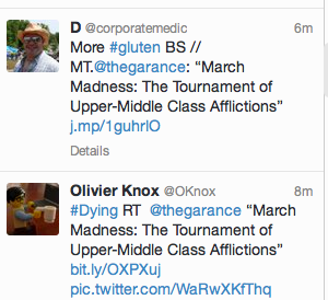 Upper-Middle Class Afflictions via Twitter: @TheGarance