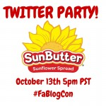 Food Allergy Bloggers Conference Twitter Party: SunButter