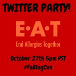 FOOD ALLERGY BLOGGERS CONFERENCE TWITTER PARTY: EAT