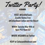 #CDAM16 Weekly Sponsor Gratify Foods & Twitter Party