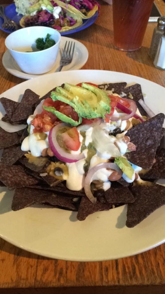 #EatFreelyUSA Nashville Wild Cow Lunch Vegan Nachos Gluten Free