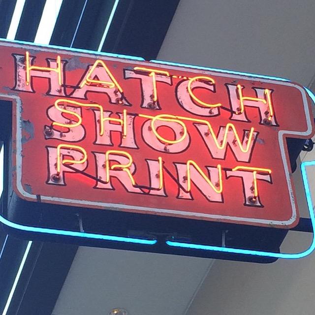 #EatFreelyUSA Nashville Hatch Show Print