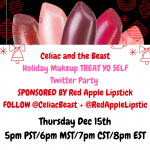 Red Apple Lipstick + Celiac and the Beast TWITTER PARTY