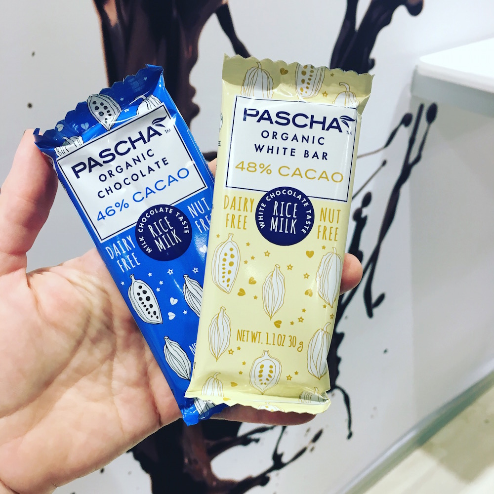 Pascha Chocolate Smaller Bars in White Chocolate and Milk Chocolate
