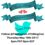 Food Allergy Awareness Week FABlogCon Twitter Party 5/18
