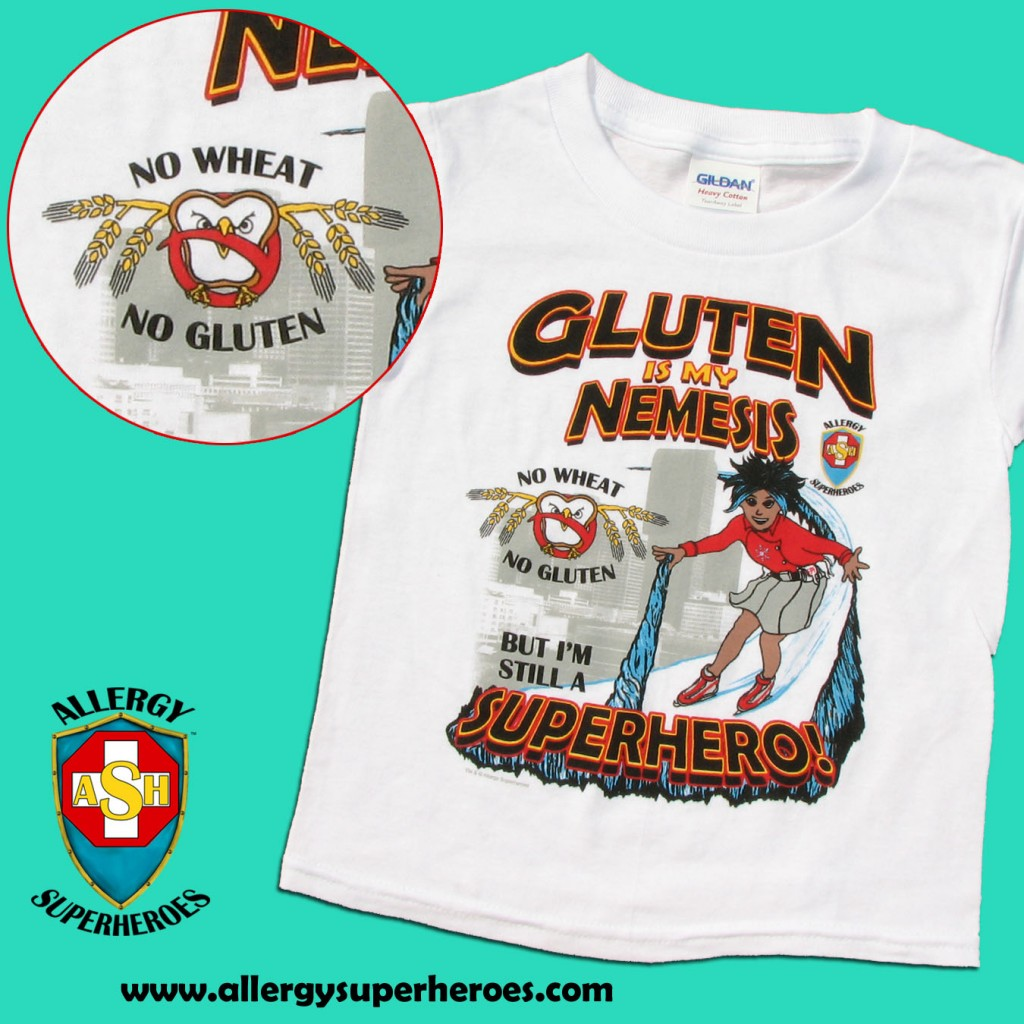 Gluten is my Nemesis SHIRT for gluten-free kids
