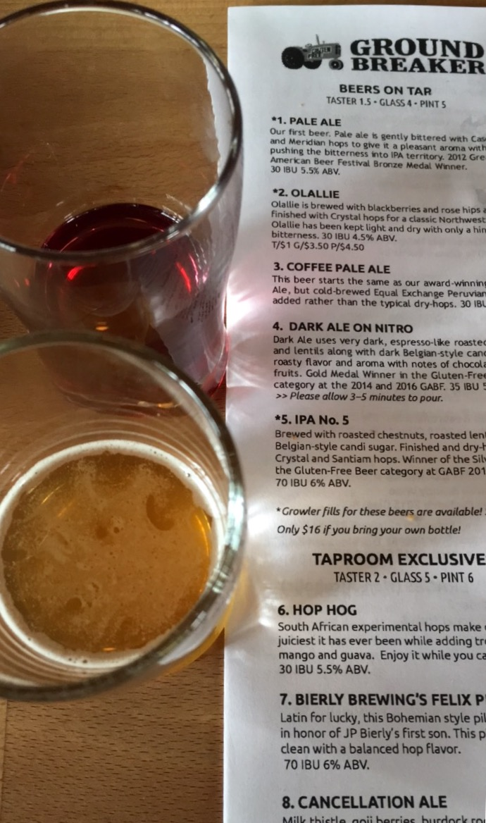 Gluten-Free Beer at Ground Breaker Brewing 100% Gluten-Free Restaurant in Portland, OR #GFBloggerRetreat