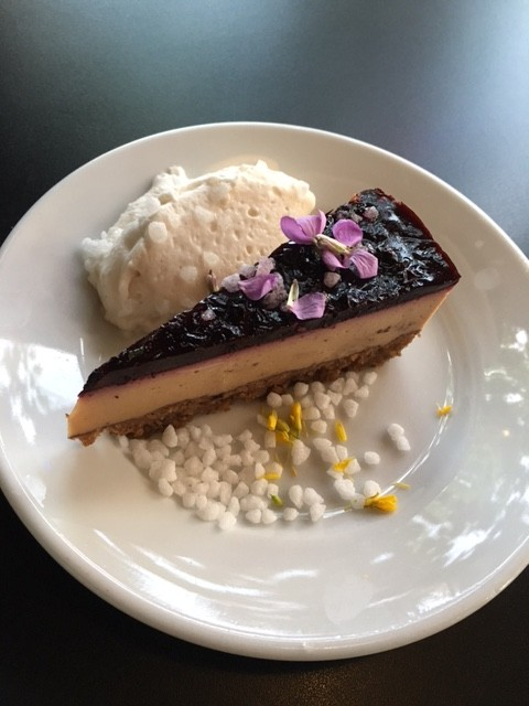 Cashew Cheesecake at Ground Breaker Brewing 100% Gluten-Free Restaurant in Portland, OR #GFBloggerRetreat