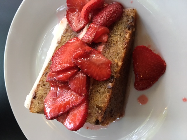 Strawberry Cake at Ground Breaker Brewing 100% Gluten-Free Restaurant in Portland, OR #GFBloggerRetreat