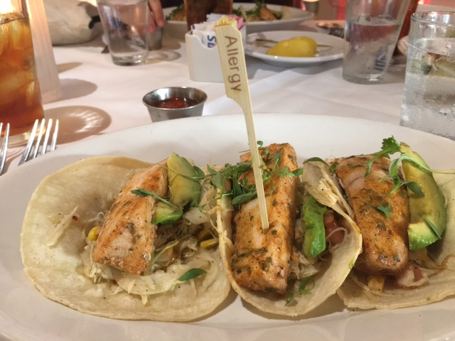 Gluten Free Dairy Free Fish Tacos at The Boathouse Disney Springs