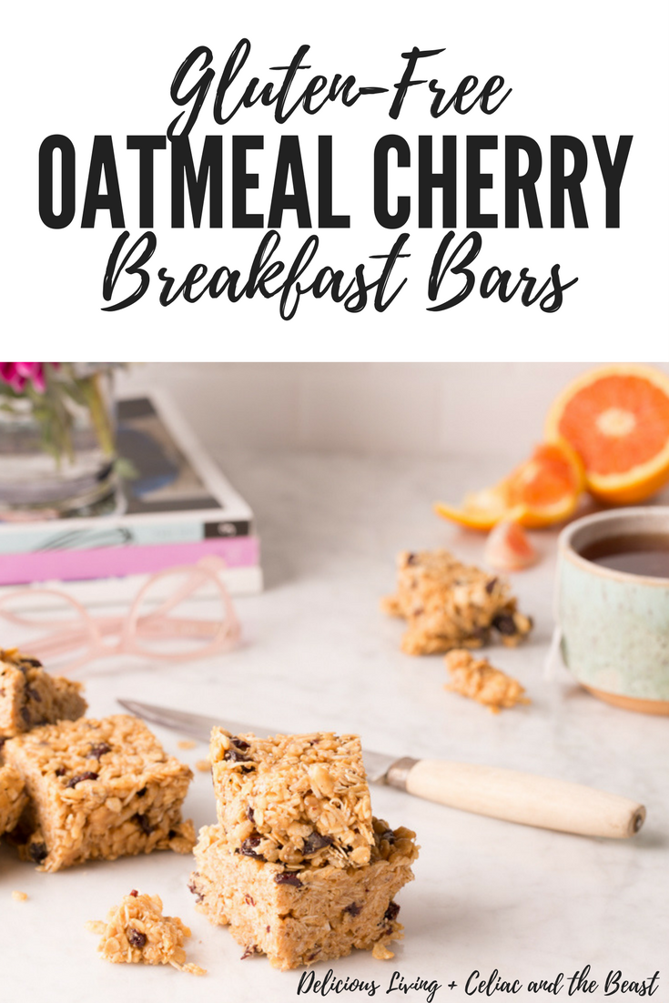 Delicious Living Gluten-Free Oatmeal Cherry Breakfast Bars