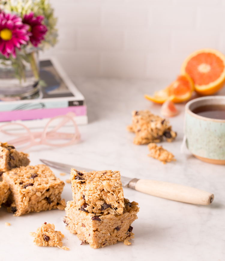Easy Cherry Oatmeal Bars from Delicious Living