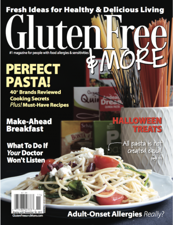 Oct/Nov 2017 Issue Cover Gluten Free & More Magazine