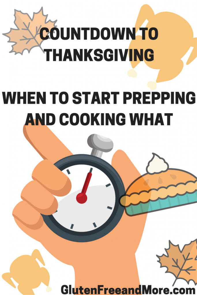 Countdown to ThanksgivingWHEN to start prepping and cooking WHAT