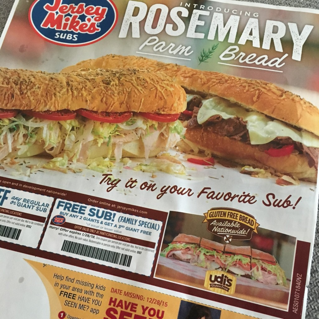 Jersey Mike's Subs Gluten Free Subs