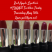 Red Apple Lipstick Twitter Party Thursday 5/21 5pm PST